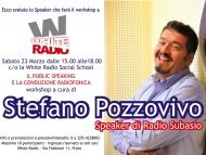 Stefano Pozzovivo di Radio Subasio a White Radio!